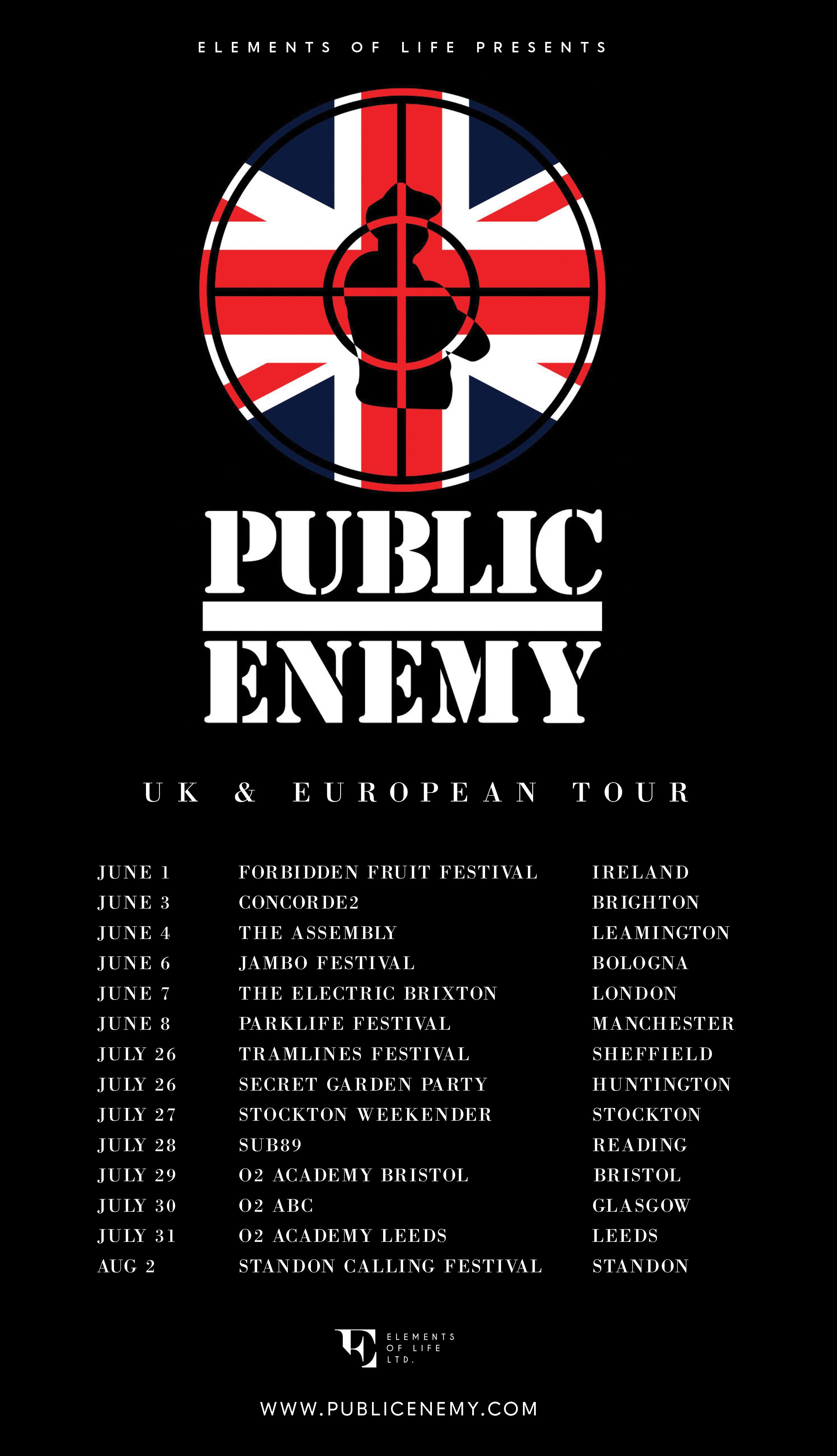 Public Enemy 2014 European Tour
