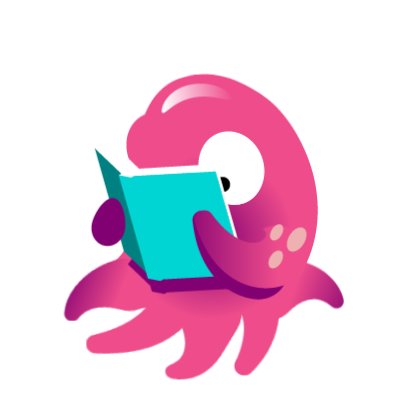 animated sticker reading
